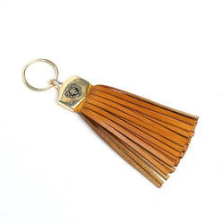 Tan Leather Tassel Keychain By Brune And Bareskin
