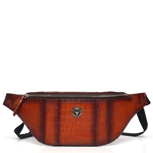 Croco Print Belt Bag by BARESKIN