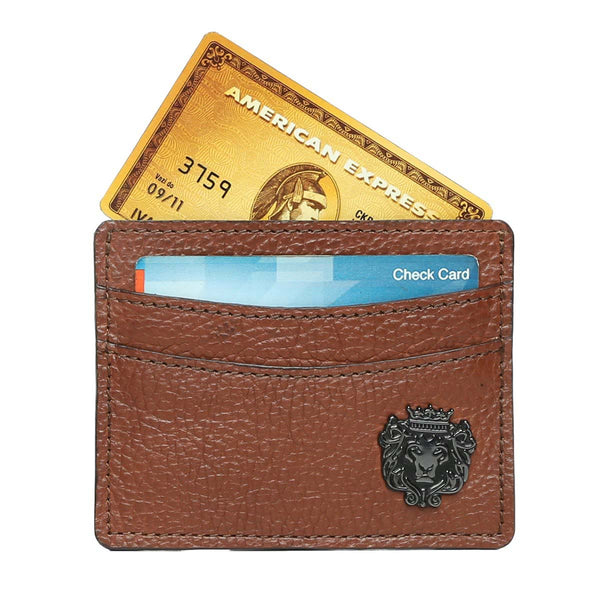 Tan With Mental Lion Unisex Card Holder By Brune
