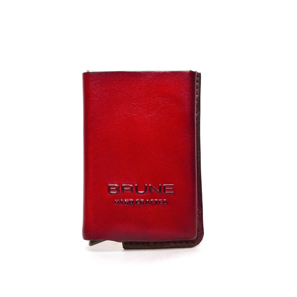 Wine Leather Hard Card Safe Case by BRUNE