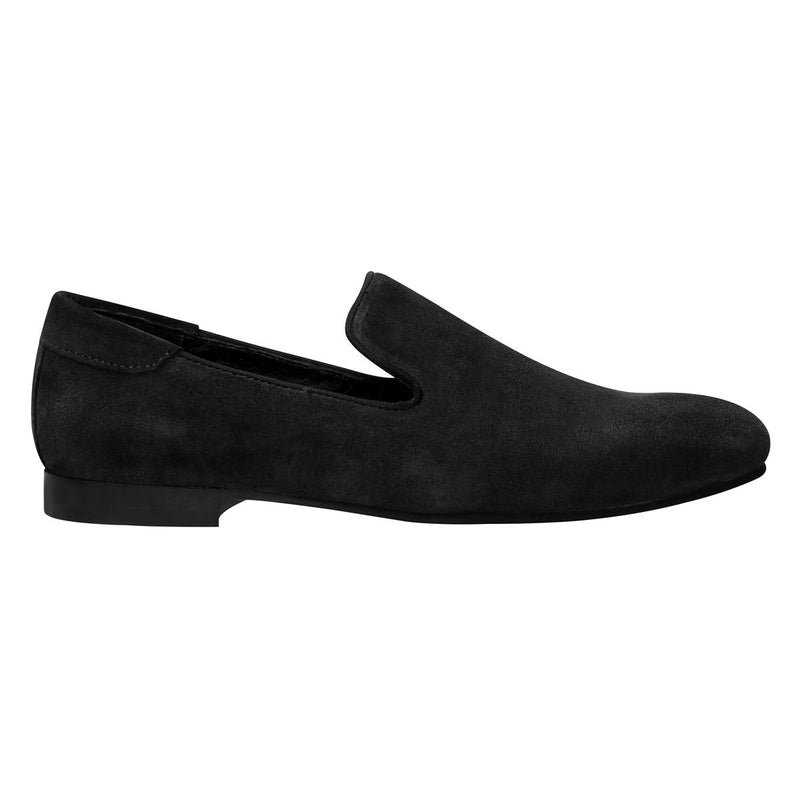 Black Suede Leather Casual Slip On Shoes By Bareskin