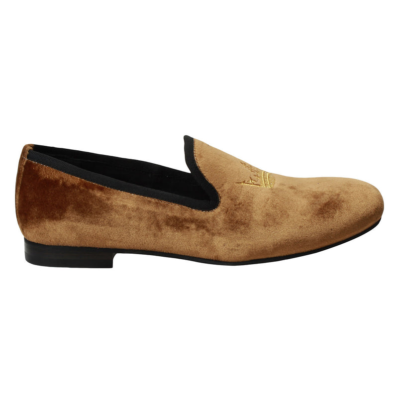 Tan Italian Velvet Slip-On By Bareskin