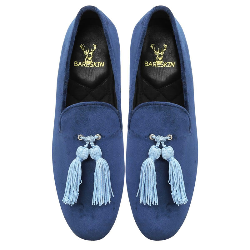Blue Italian Velvet Slip-On By Bareskin