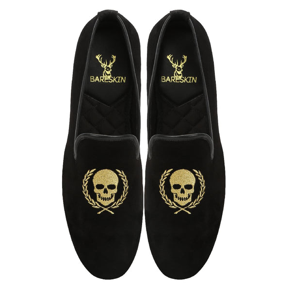 Black Italian Velvet Slip-On By Bareskin