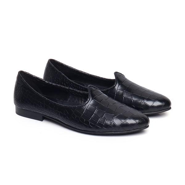Black Genuine Leather Jalsa Jutti By Bareskin