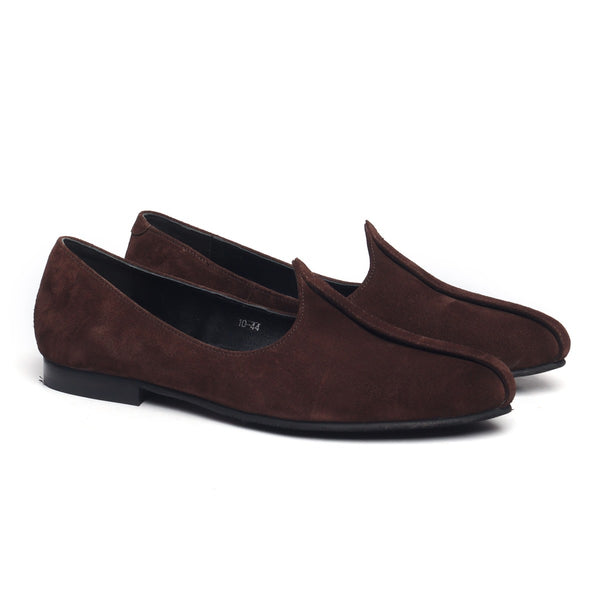 Brown Suede Leather Jalsa Jutti By Bareskin