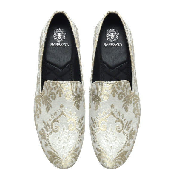 White Ethnic Embroidered Slip-on by BARESKIN