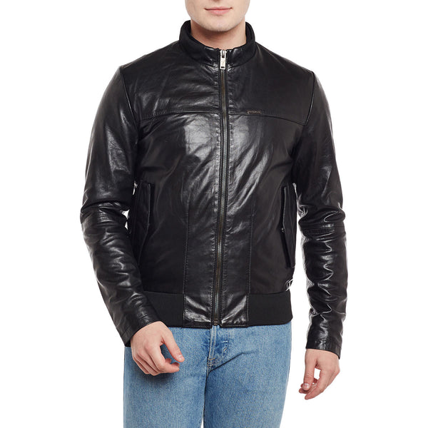 Bareskin Men's Flap Pockets Leather Jacket