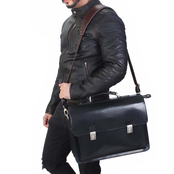 Flapover Briefcase For Men By Brune