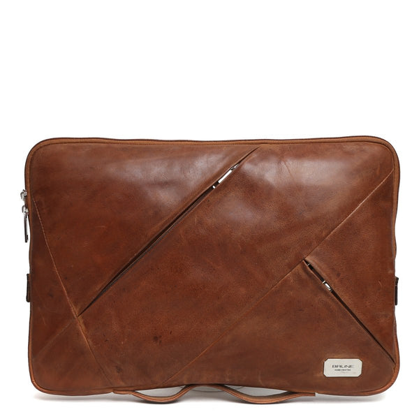 Brune Tan Leather Laptop Sleeve