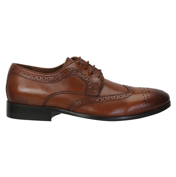 Tan Genuine Leather Brogue/Oxford By Brune