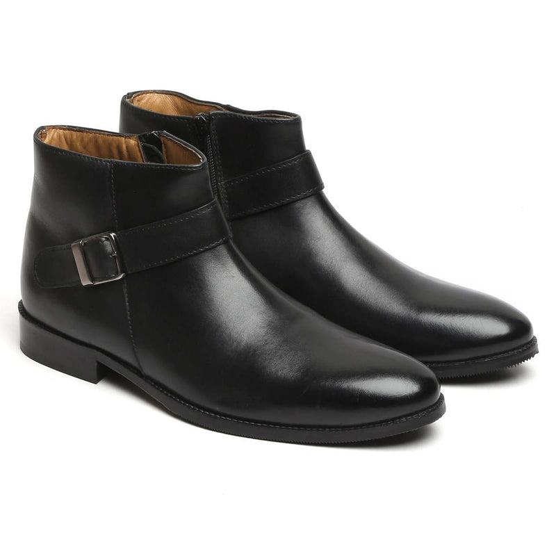 Black Single Strap Bryce Boots For Men By Brune