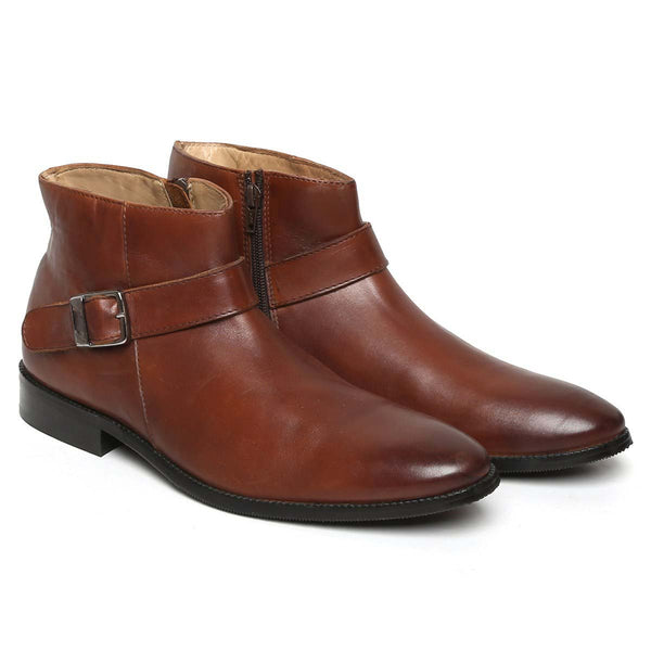 Brown Singel Strap Bryce Boots Men By Brune