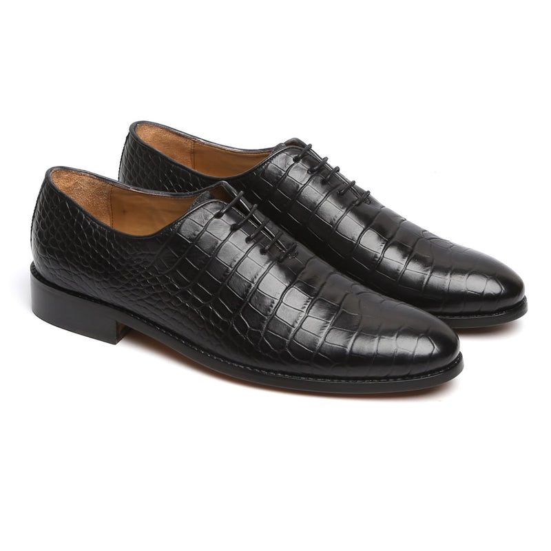 Black Genuine Leather Brogue/Oxford By Brune