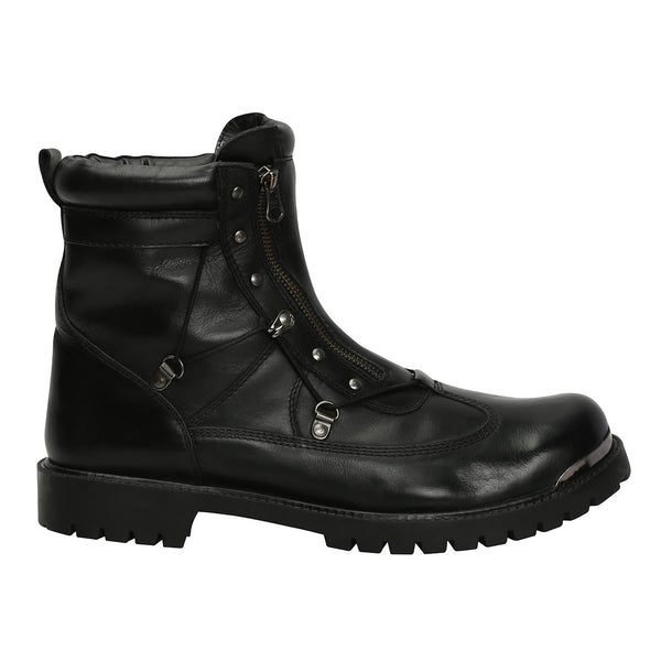 Black Genuine Leather Bryce Boots By Bareskin