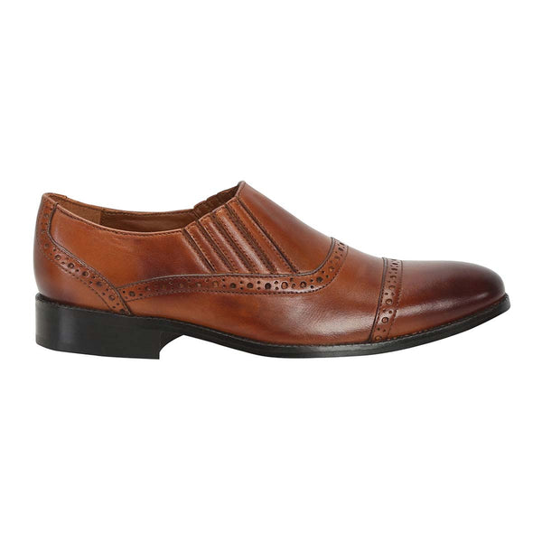 New Stylish Tan Hand Finished Leather Formal Shoes By Brune