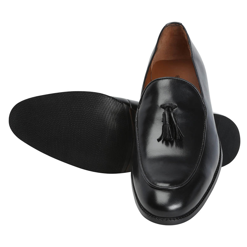 Black Leather Slip-On By Brune