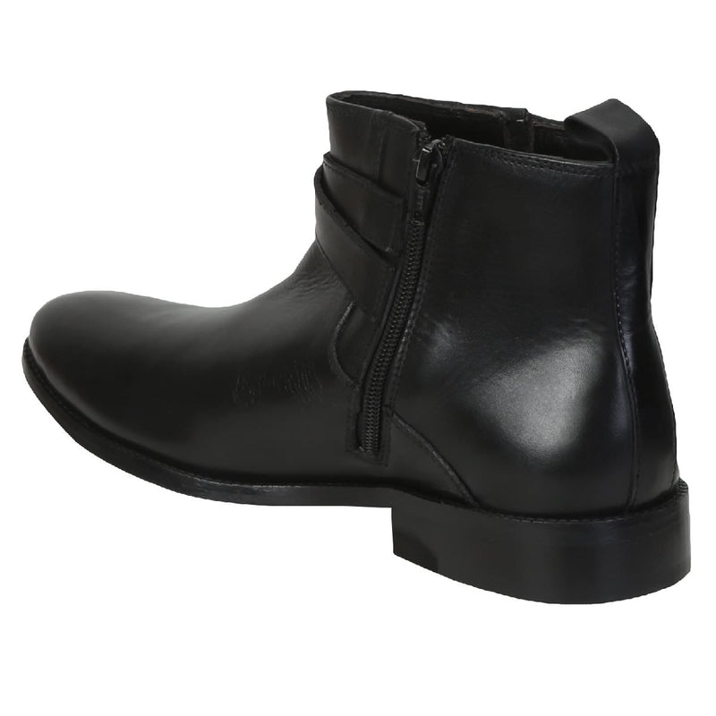 Black Genuine Leather Bryce Boots By Brune