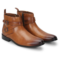 Tan Double Strap Bryce Boots For Men By Brune