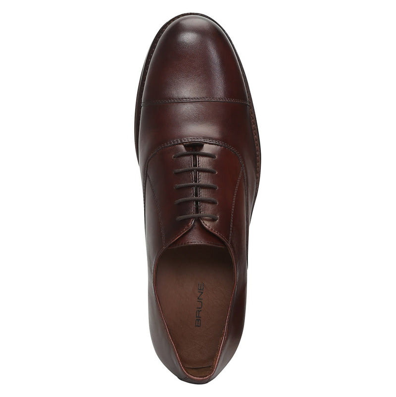 Brown Hand Crafted Cap Toe Oxford Formal Shoes By Brune