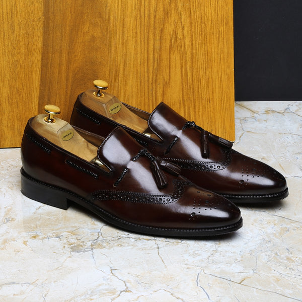 Brown Leather Formal Shoes By Brune