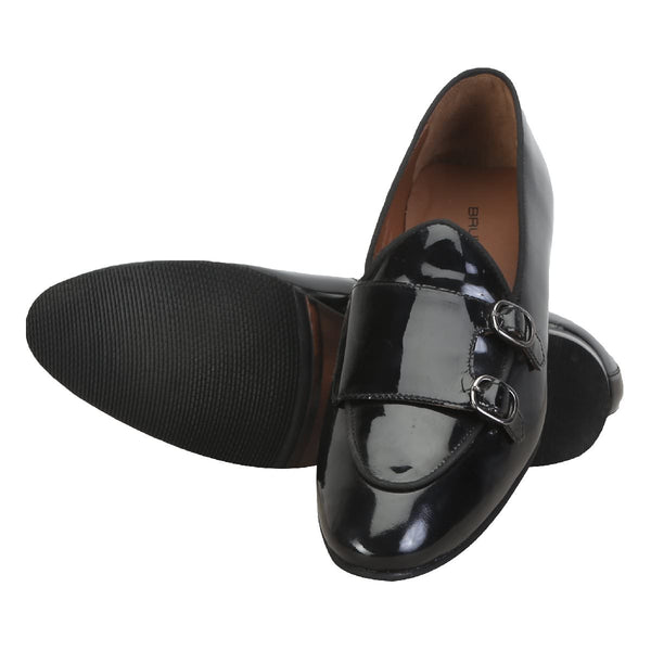 Monk Strap Slip On In Patent Leather