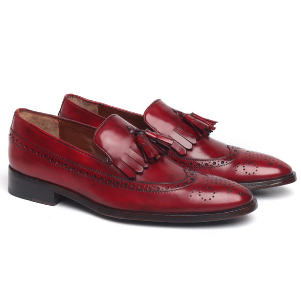 Wine Tassel With Fringes Long Tail Leather Sole Men's Formal Slip-On