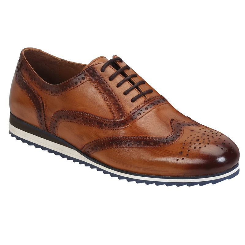 Tan Genuine Leather Sneakers By Brune