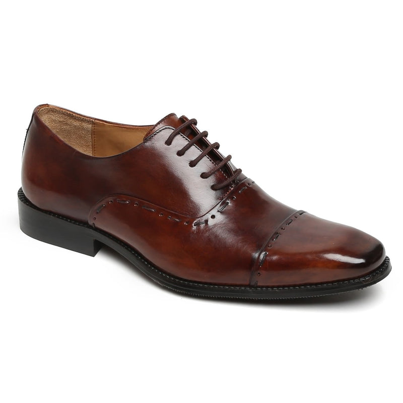 Brown Dual Tone Leather Odd Stitched Oxford By Brune