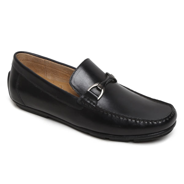 Black Horsebit Leather Loafers By Brune