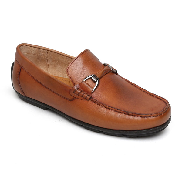Tan Horsebit Leather Loafers By Brune