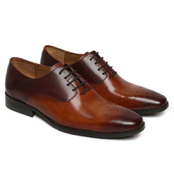Silhouette Two Shade Leather Oxford Brogue Shoe By Brune