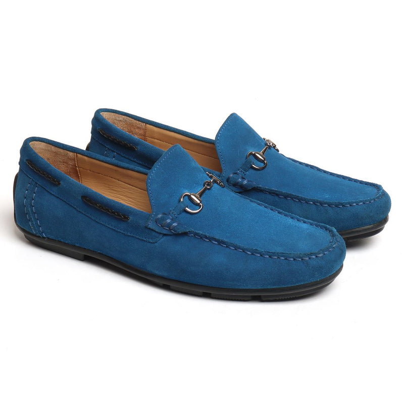 Sea Accent Suede Leather Horsebit Loafers By Brune
