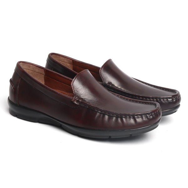 Brown Leather Light Weight Super Flexible Loafers by Brune & Bareskin
