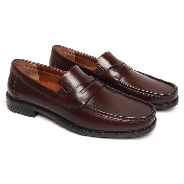 Dark Brown Genuine Leather Light Weight Moccasins by BRUNE