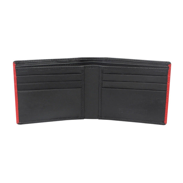Brune Black And Red Leather Wallet