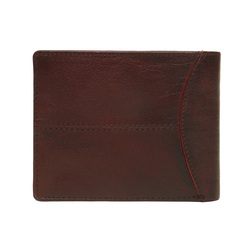 Brown Leather Wallet For Men By Brune