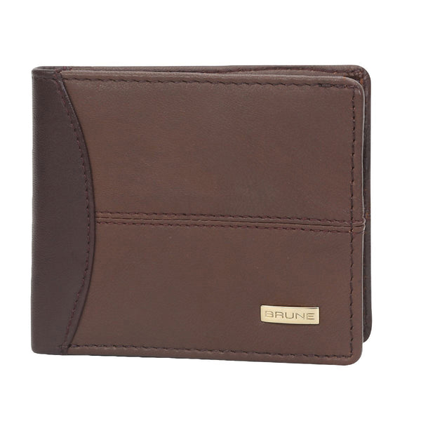 Dual Shade Brown Leather Wallet For Men By Brune
