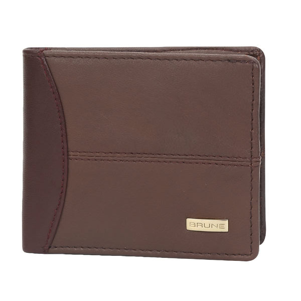 Brown/Wine Leather Wallet For Men By Brune