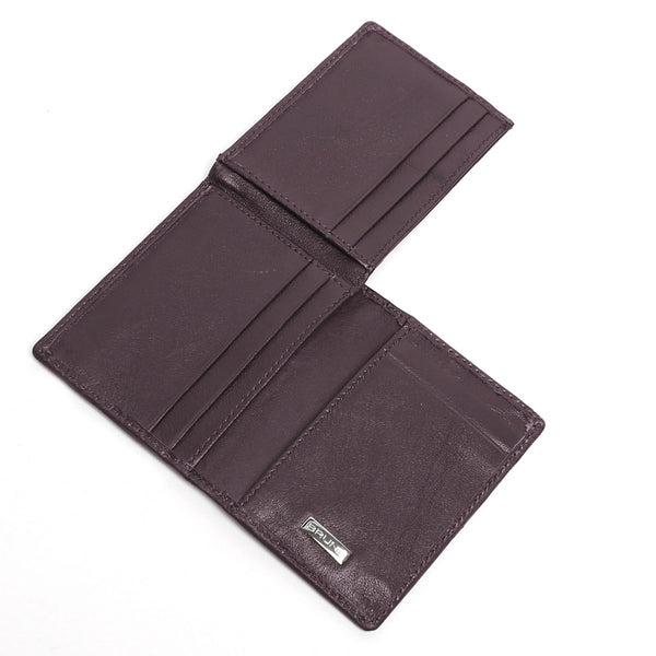 Brown Lamb Leather 3-Fold Men Wallet By Brune