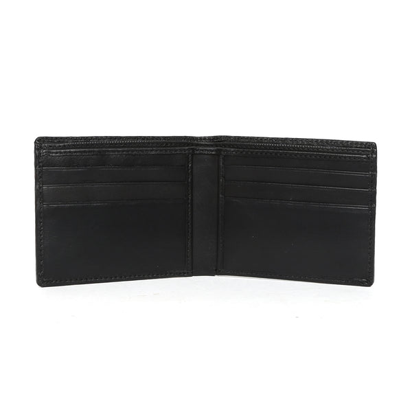 Black Full Grain Leather Men Wallet By Brune