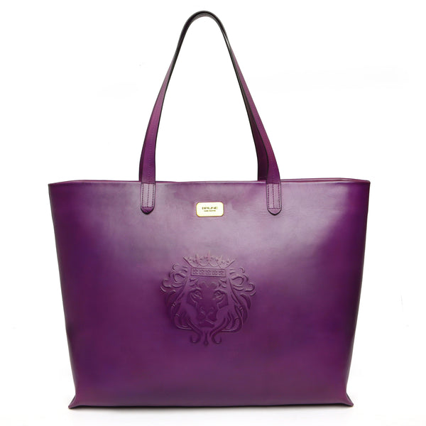 Shopping Basket Leather Bag With Top Zip Opening for women