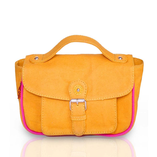 Women Yellow Leather Shoulder Sling Bag