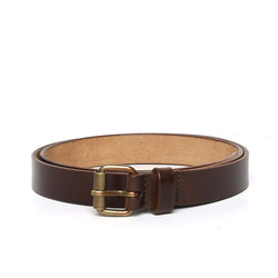 Brown Leather Antique Look Buckle Ladies Belt By Brune