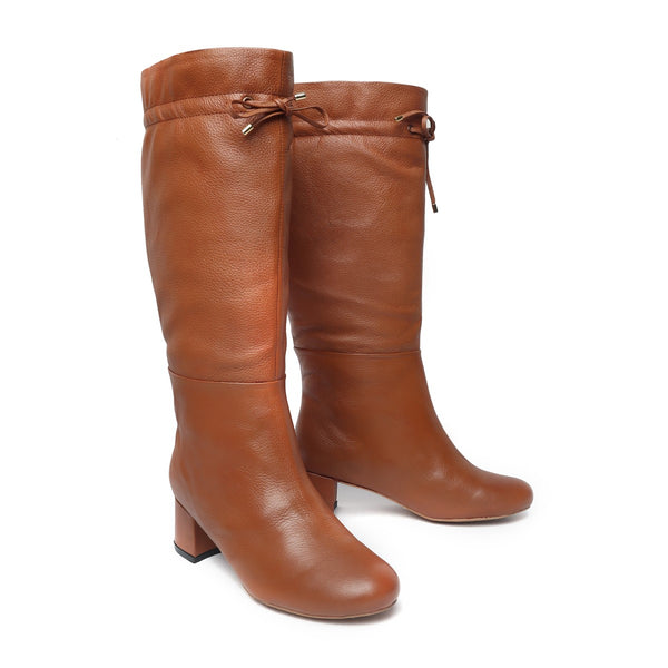 Tan Forever Comfort High Ankle Ladies Boots By Brune