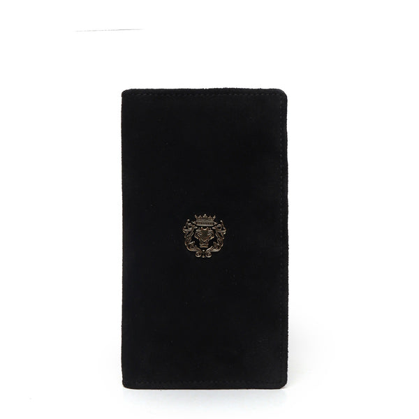 Women's Black Suede Leather Hand Wallet by BRUNE & BARESKIN