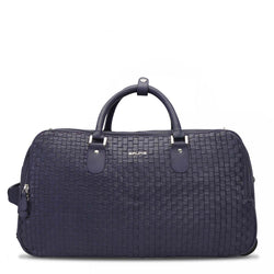 Brune Violet Woven Leather Assent Strolly Duffle Bag