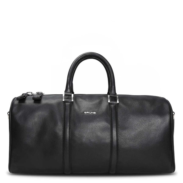 Brune Pebbled Leather Duffle Bag