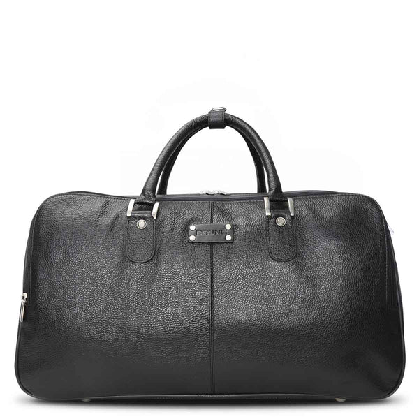 Brune Black leather weekender Duffle bag