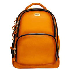 Orange Leather Mod Look Laptop Backpack By Brune